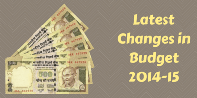 Latest Changes in Budget 2014-15