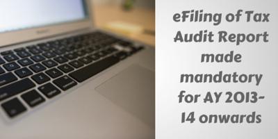 efiling of tax audit