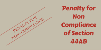 Section 44AB - Penalty for Non Compliance