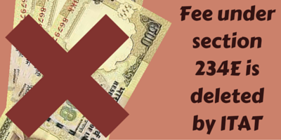 Fee under section 234E