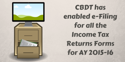 CBDT has enabled e-filing