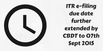 ITR e-filing due date