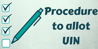 Procedure to allot UIN