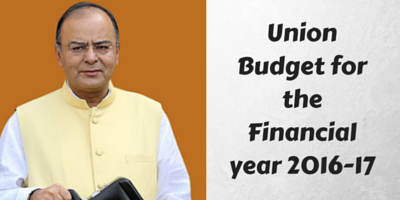 Union Budget for Fiscal Year 2016-17