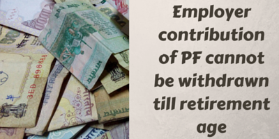 PF contribution by employer