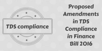 TDS Compliance in Finance Bill 2016
