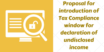 Tax compliance window