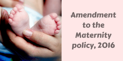 Maternity leave policy in India