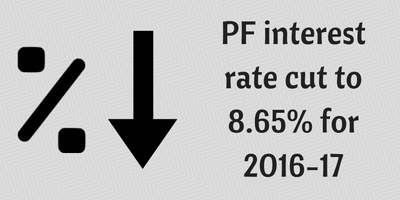 PF interest rate for 2016-17 fixed at 8.65%