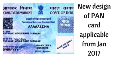 New design of PAN card
