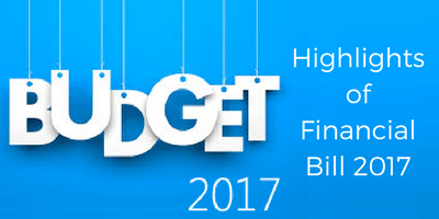 Highlights of financial bill 2017