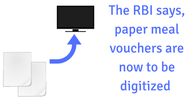 Digitization of paper meal vouchers