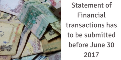 Due date for furnishing Statement of Financial transactions