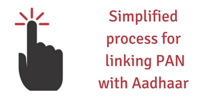 simplified linking PAN with Aadhaar